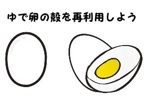 ゆで卵の殻03