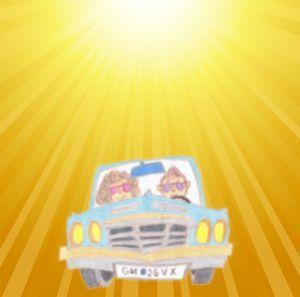 運転中太陽がまぶしい02 - コピー