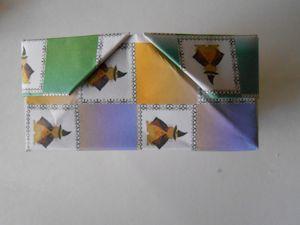 2枚重ね折紙の箱005 - コピー