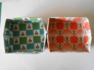 2枚重ね折紙の箱001 - コピー